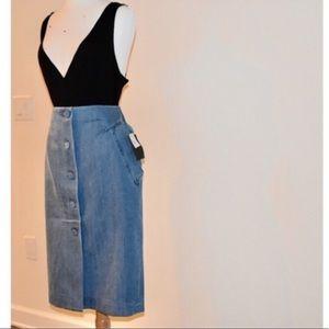 Topshop denim skirt size 14 NWT. Reposh too big